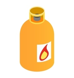 Gas bottle isometric 3d icon vector