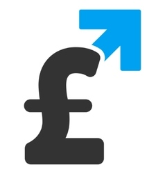 Pound growth flat icon symbol vector