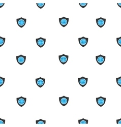 Global shield flat seamless pattern vector