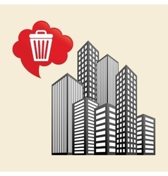 Smart city design technology icon multimedia vector