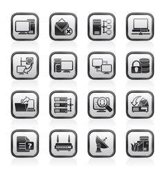 Computer network and internet icons vector