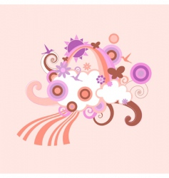 abstract shapes design vector image vector image