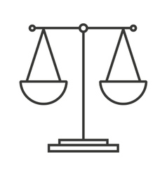 balance equality scale icon vector image