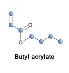 Butyl acrylate chemical vector