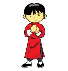 Chinese Boy vector image