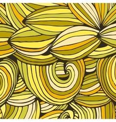 Color doodle background lines vector image