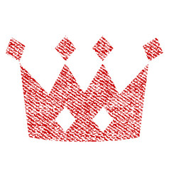 Crown fabric textured icon vector