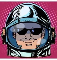 emoticon spy Emoji face man astronaut retro vector image vector image