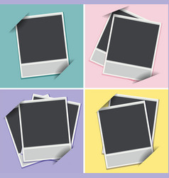 Four templates of photoframes on different vector
