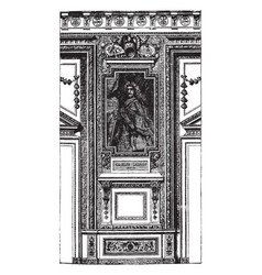 Fragment from the apollo gallery in the louvre at vector