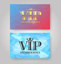 Gold vip member card vector
