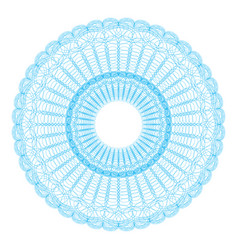 guilloche pattern rosette for play money or othe vector image vector image