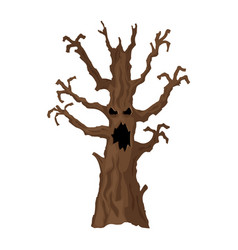 Halloween tree halloween icon isolated on white vector