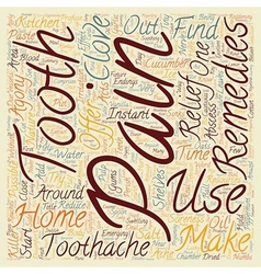 Home remedies for toothache pain relief text vector