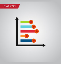Isolated diagram flat icon infographic vector