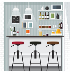kitchen bar vector image vector image