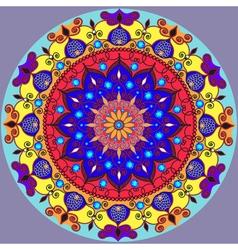 Mandala decoration isolated design element Zentang vector image