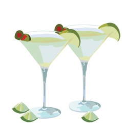 Martini cocktail isolated vector
