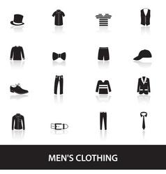 Mens black clothing eps10 vector