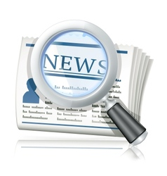 News Search vector image vector image