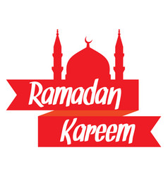 Ramadan kareem islamic mosque vector