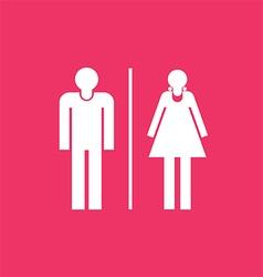 Restroom sign icon vector