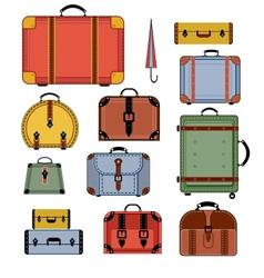 Retro travel bags vector image vector image