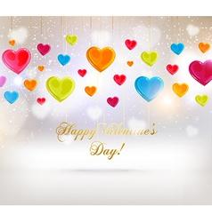 Romantic valentines background vector