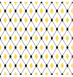 seamless geometric pattern with diamond rhombus vector image vector image