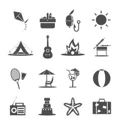 Summer Icon Black vector image vector image