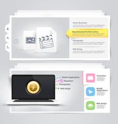 Website design elements portfolio template vector