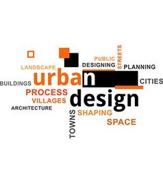 Word cloud urban design vector