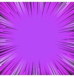 Manga comic book flash purple explosion radial vector