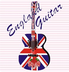 England acoustic guitar vector