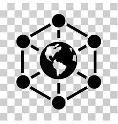 Worldwide internet icon vector