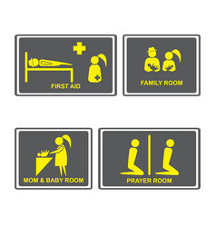 First aid signsfirst aid room on vector