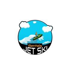 Logo jet ski scooter vector