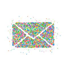 envelope circles icon vector image