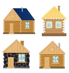 Buildings on white background vector