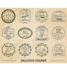 Delivery Stamps Set vector image