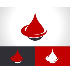 Donate blood drop logo icon vector