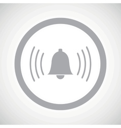 Grey alarm sign icon vector