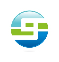 Logo circleletter S good style lettering vector image