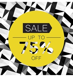 Sale Design Template on Triangle Abstract vector image
