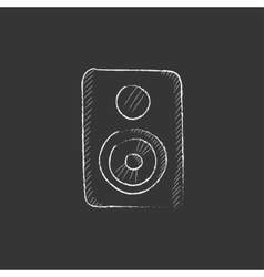 Mp3 player drawn in chalk icon vector