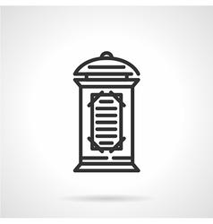 Advertising column black line icon vector