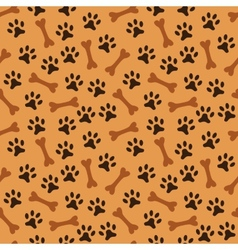 Animal seamless pattern of paw footprint vector