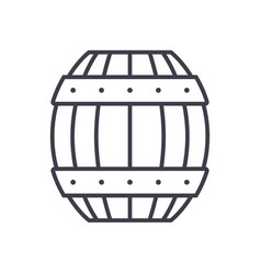 barrel line icon sign on vector image vector image