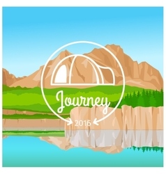 Camping journey concept vector