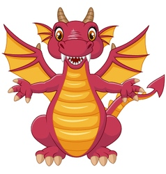 Cartoon funny dragon vector